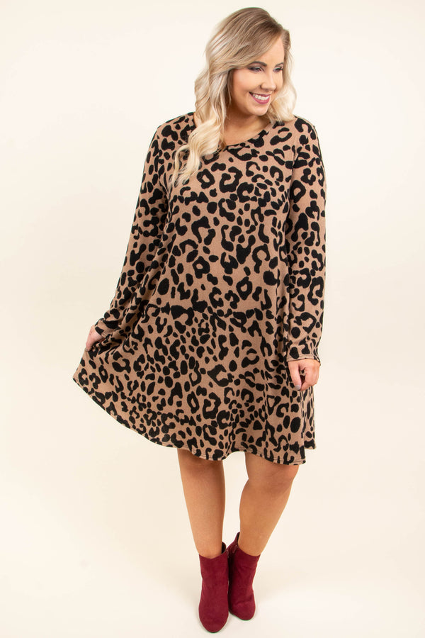 Total Heart Breaker Dress, Mocha