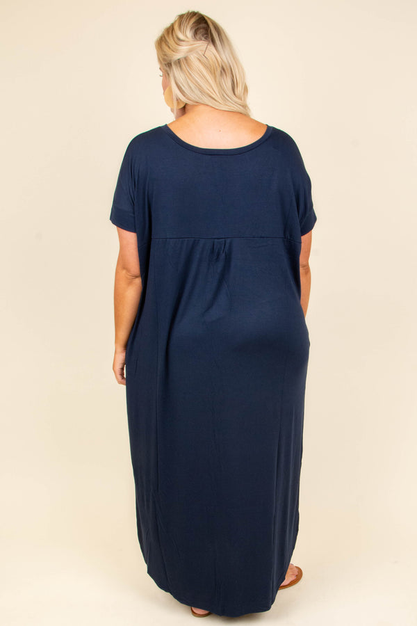 All Summer Long Maxi Dress, Midnight Navy