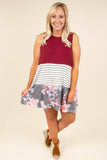 Happy Together Dress, Burgundy