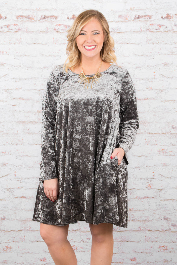 Drama Queen Dress, Charcoal