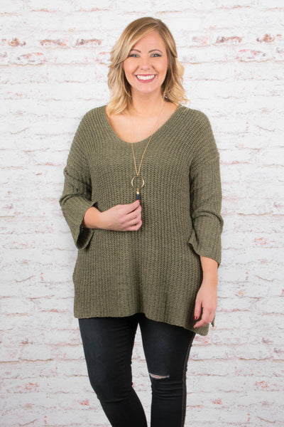 Winter Is Coming Sweater, Olive