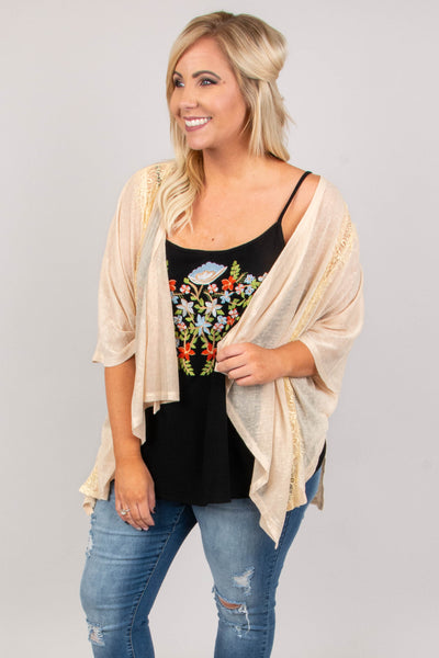 Start Something New Cardigan, Taupe