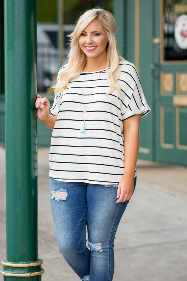 Wide Open Spaces Top, Ivory