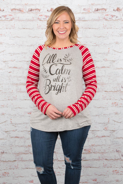 Calm And Bright Tee, Red