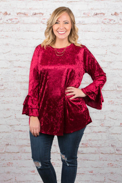Fearless And Fancy Tunic, Wine
