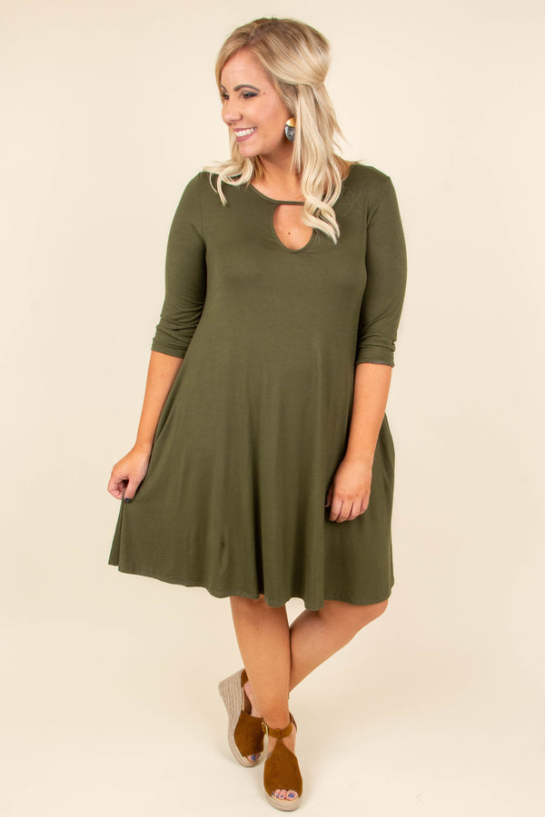 Roll With It Dress, Olive