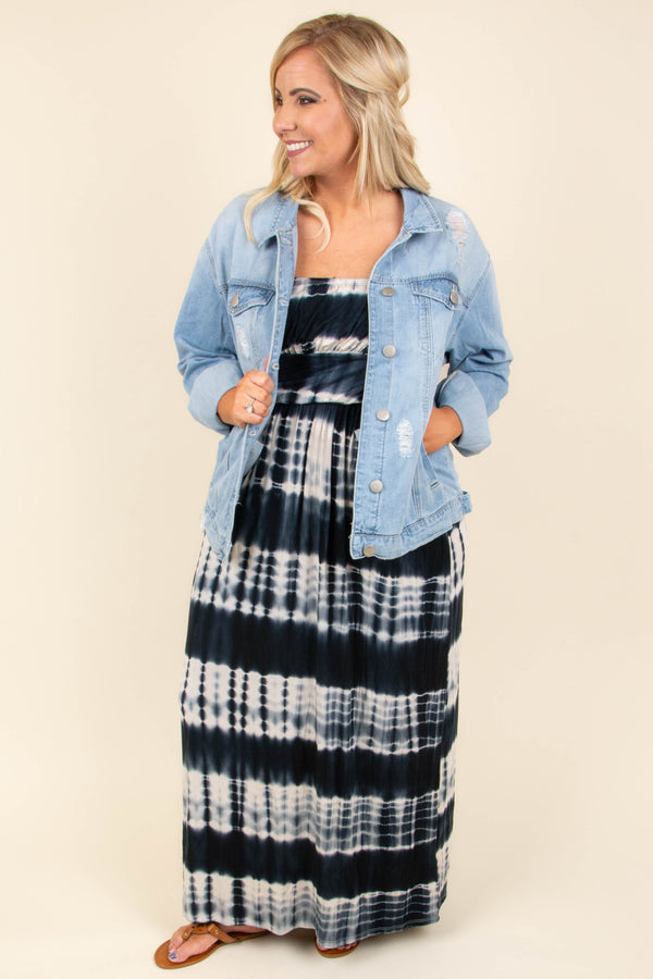 Beyond The Waves Maxi Dress, Navy