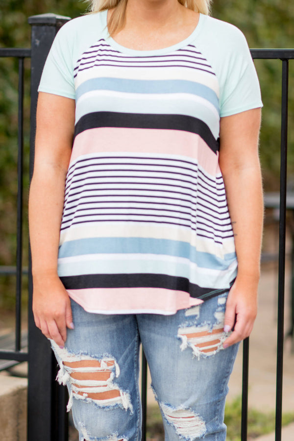 Colorful Cutie Tee, Mint