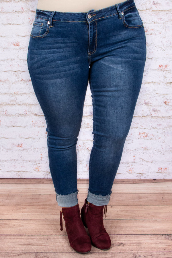 Casting Shadows Skinny Jeans, Medium Wash