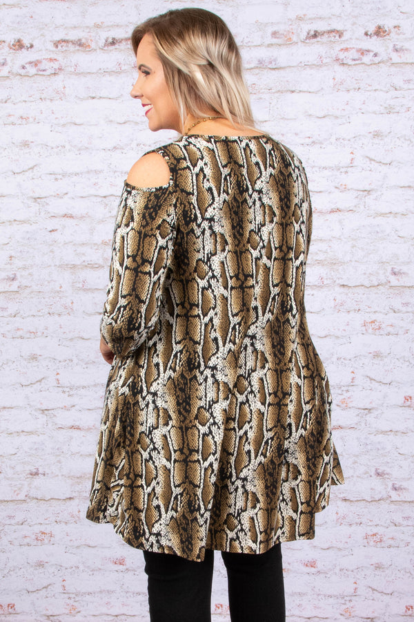 Step Into The Wild Dress, Taupe