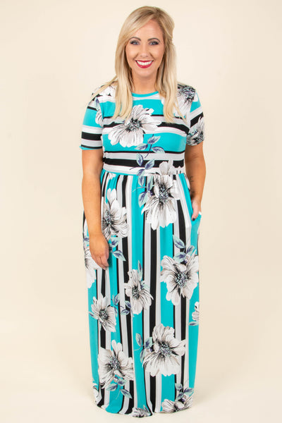 Completely Smitten Maxi Dress, Aqua
