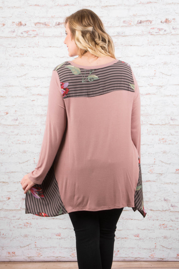 One And Only Tunic, Dusty Rose