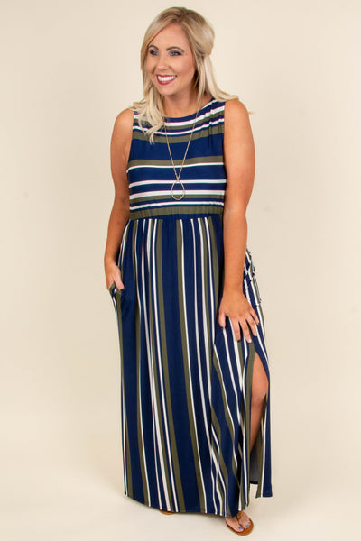 A Night Like This Maxi Dress, Navy