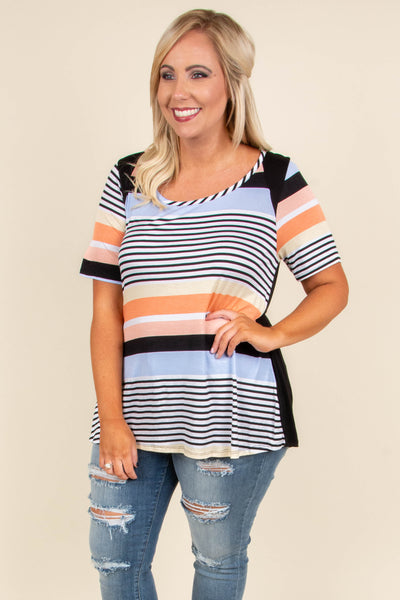 Chasing Colors Top, Black