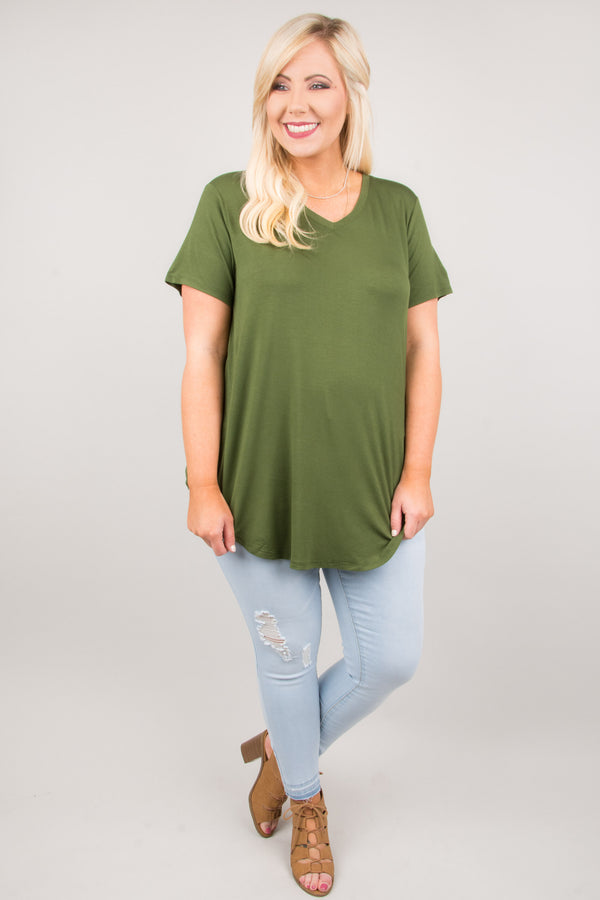 Everyday Love Top, Army Green