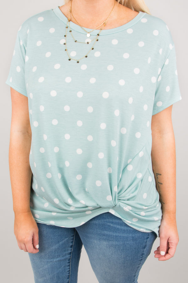 A Dot Of Cute Top, Mint
