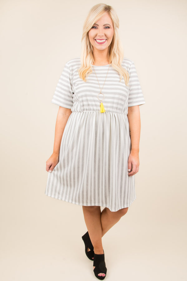 Seas the Day Dress, Gray