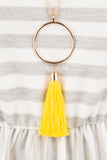 Going in Circles Necklace, Yellow