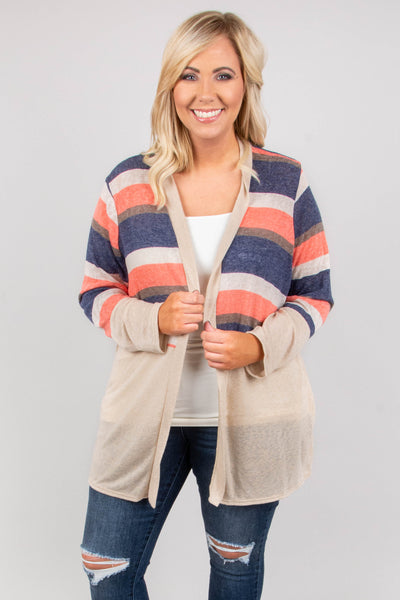 Fall Softly Cardigan, Multi