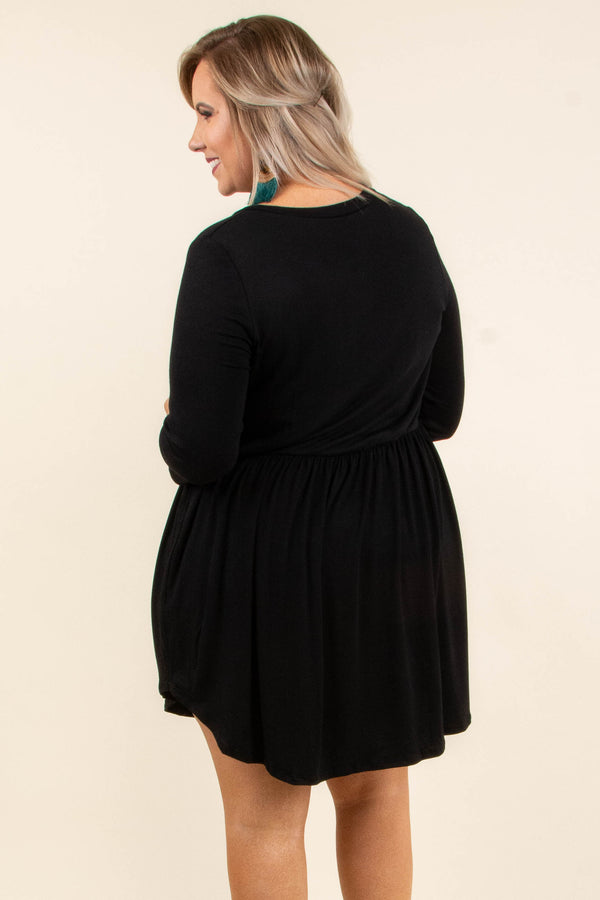 On My Terms Dress, Black