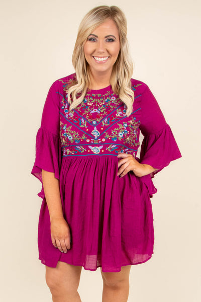 All Weekend Long Dress, Magenta