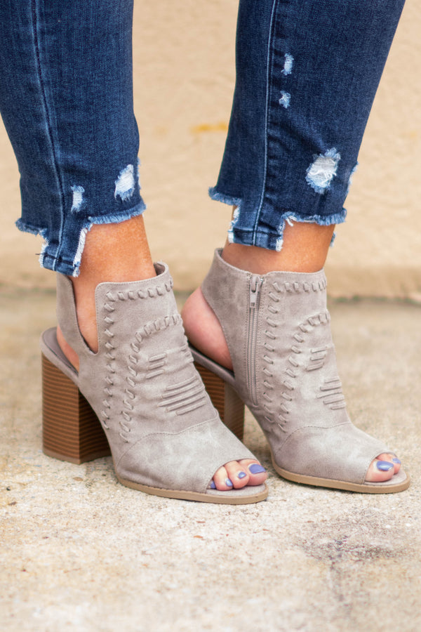 Put It In Neutral Booties, Taupe
