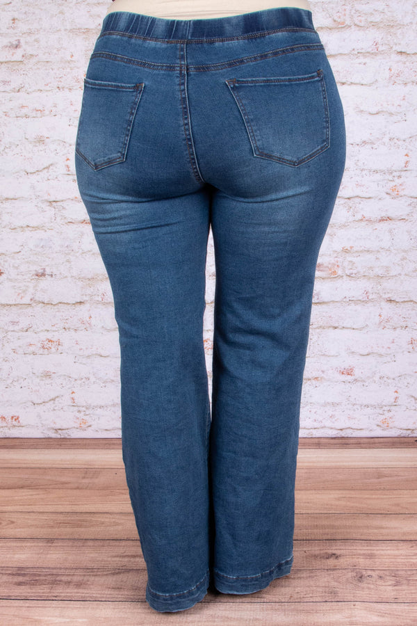 Dare To Flare Jeans, Dark Wash
