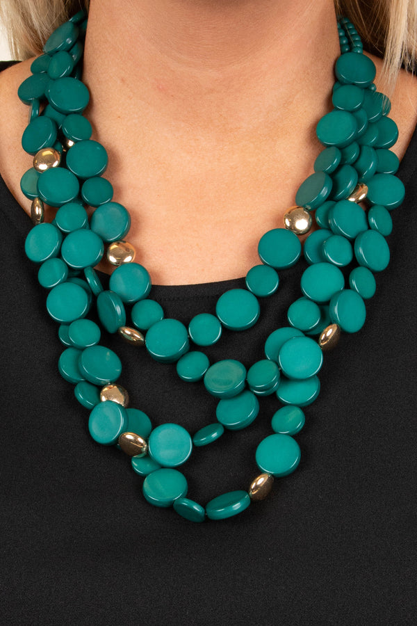 Over The Top Necklace, Green