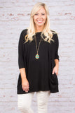 Happy As Ever Tunic, Black