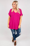 Comfy Travels Top, Magenta