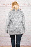Fuzzy Feelings Pullover, Navy
