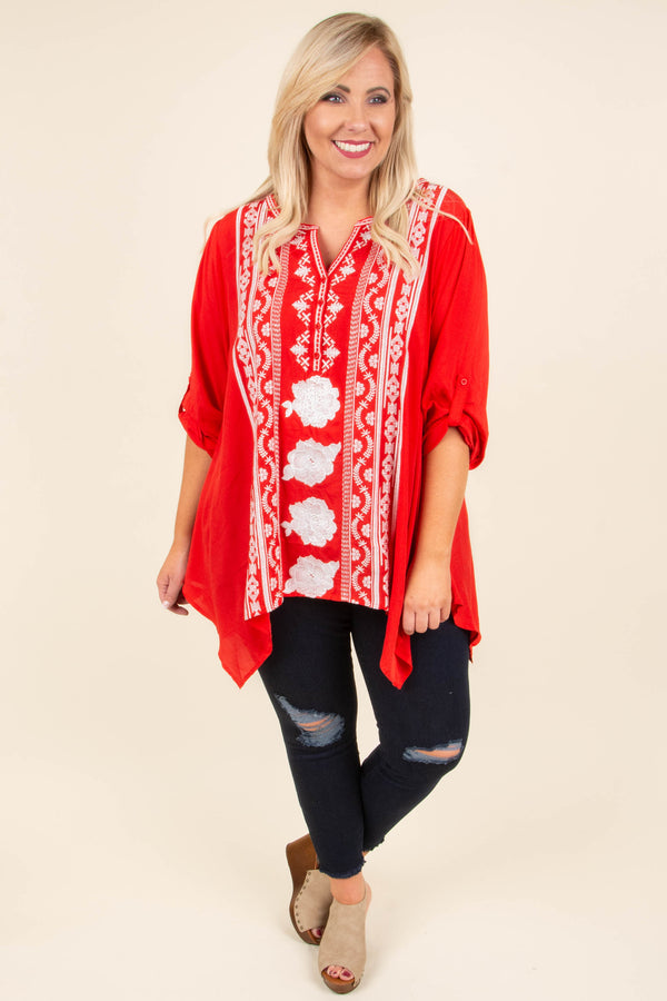 The Next Chapter Tunic, Tomato
