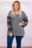 Deep Conversations Tunic, Charcoal