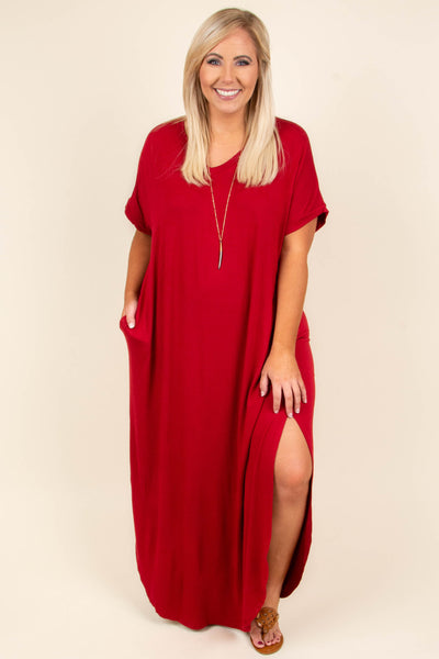 Flow With It Maxi Dress, Tango Red