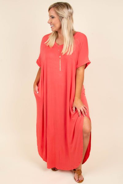 Flow With It Maxi Dress, Coral