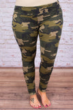 Catch Me If You Camo Leggings, Olive