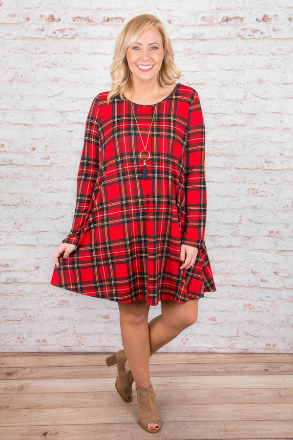 Campfire Songs Dress, Red