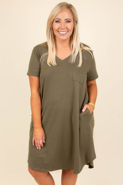 Adventures With You Dress, Olive