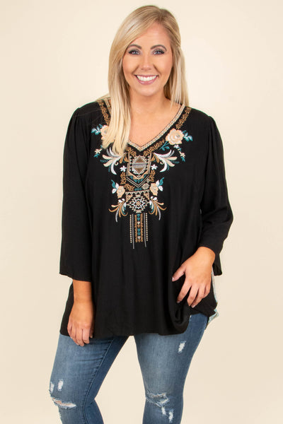 A Million Years Tunic, Black
