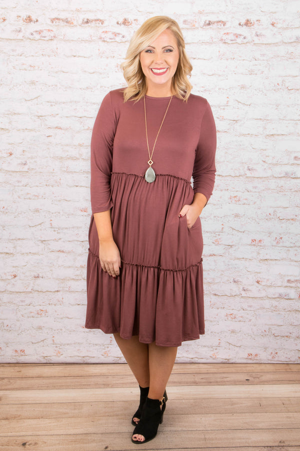 Easy Afternoon Dress, Berry