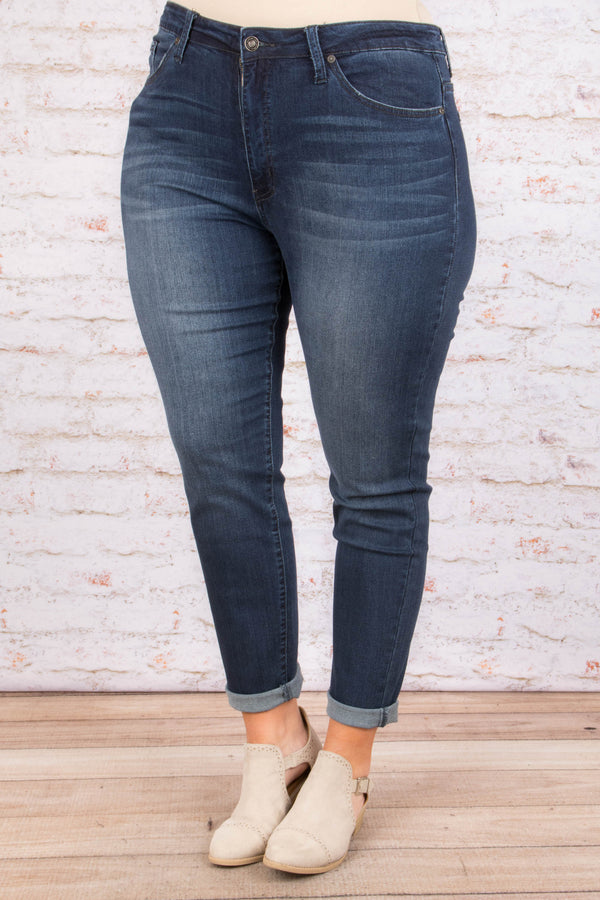 Run To You Skinny Jeans, Dark Wash