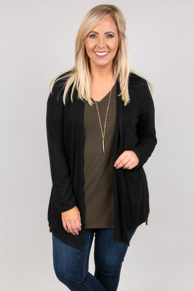 Windy Afternoon Cardigan, Black