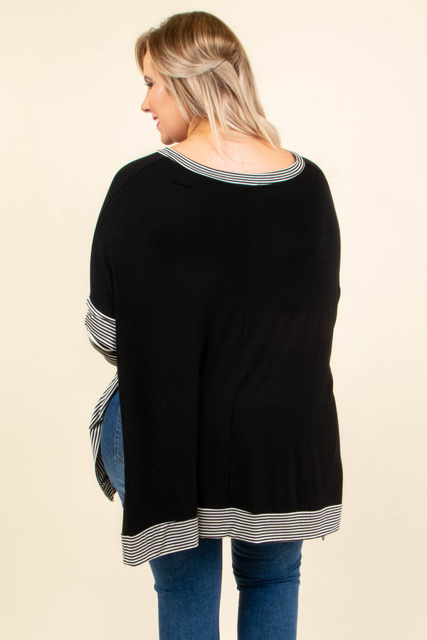 Delight In The Details Top, Black