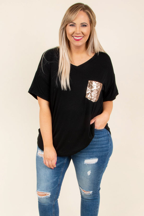 Only For A Minute Top, Black