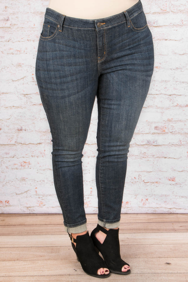 Not Complicated Jeans, Dark Wash
