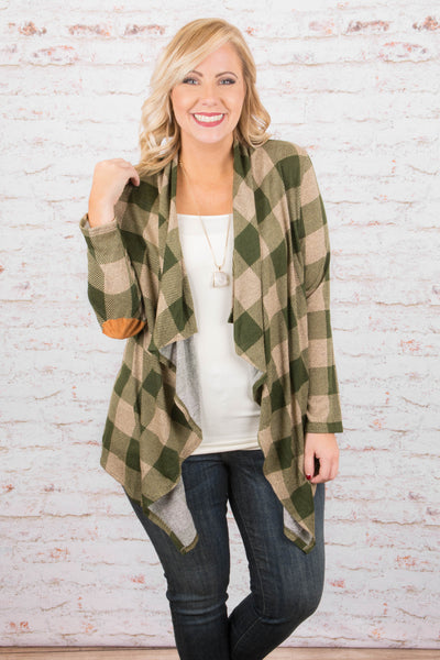 Find A New Trail Cardigan, Olive