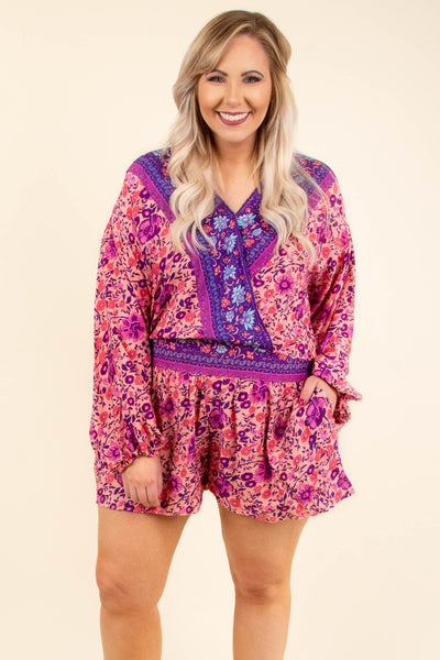 Take What You Get Romper, Pink