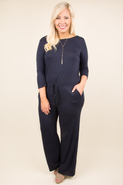 Backstage Pass Jumpsuit, Navy