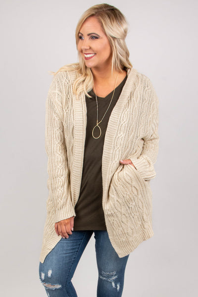 cardigan, natural, long sleeve, sweater, cozy, comfy, fall, winter, beige