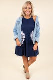 No Rainy Days Dress, Dark Navy